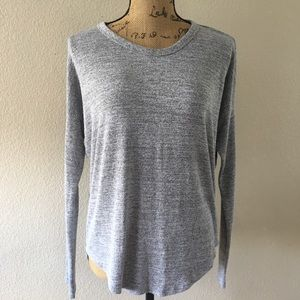 Rag & Bone heather grey long sleeve tee